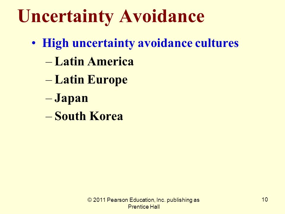 Uncertainty Avoidance