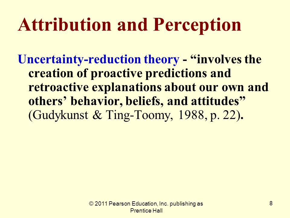 Attribution and Perception