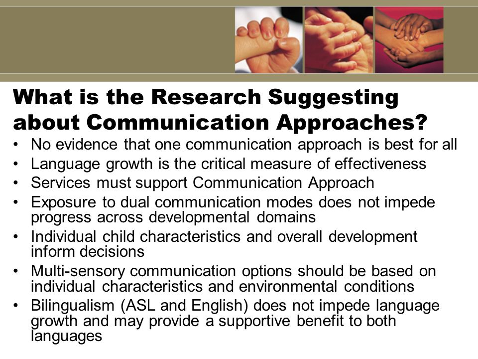 What is the Research Suggesting about Communication Approaches