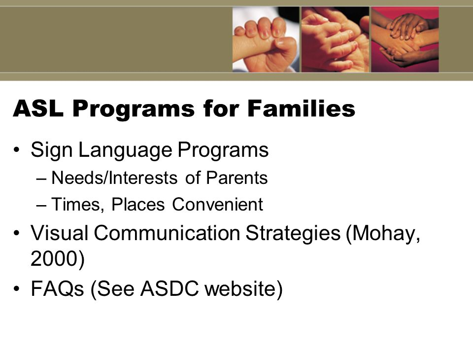 ASL Programs for Families