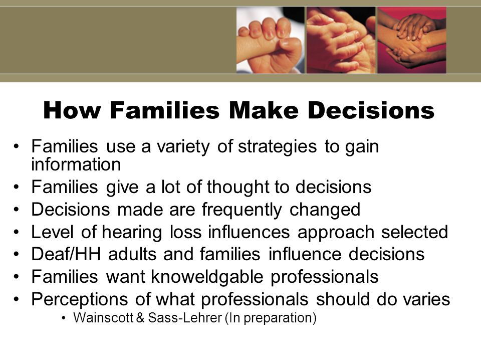 How Families Make Decisions