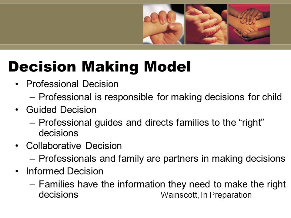 Decision Making Model Professional Decision