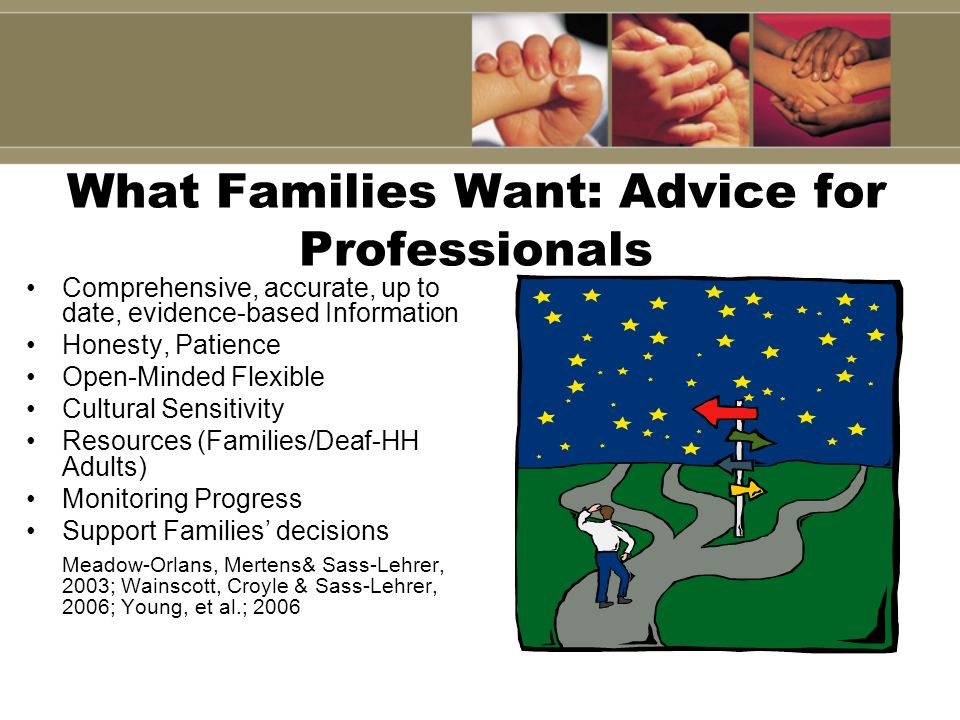 What Families Want: Advice for Professionals