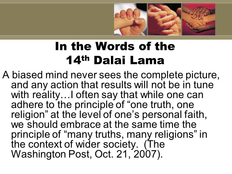 In the Words of the 14th Dalai Lama
