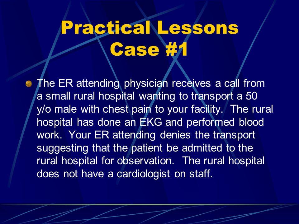 Practical Lessons Case #1