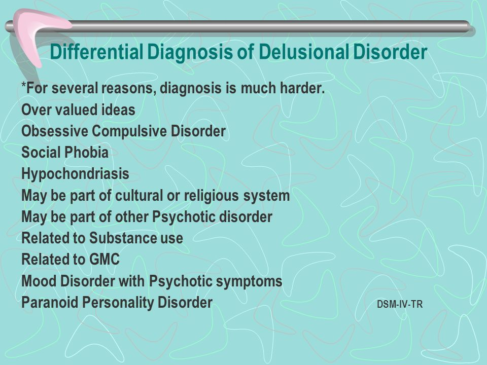 Differential Diagnosis of Delusional Disorder