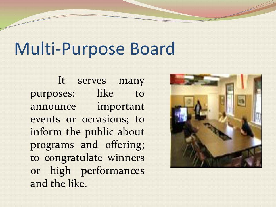 Multi-Purpose Board