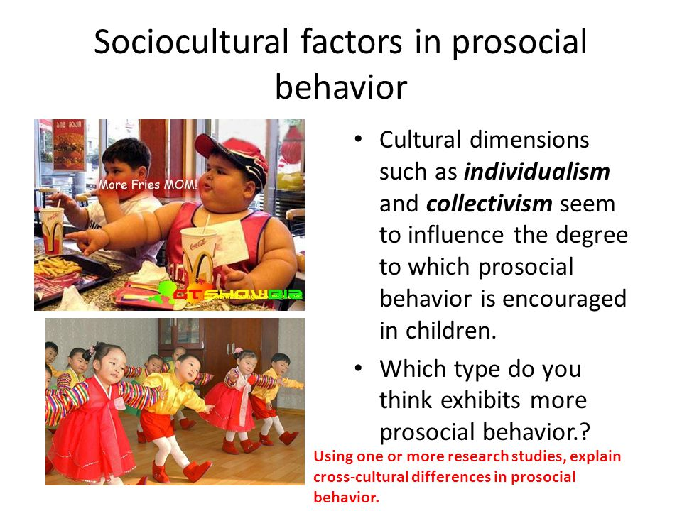 cross national differences in prosocial moral This paper discusses the concept of prosocial involvement as a positive youth development construct prosocial moral cross-national variations in prosocial.