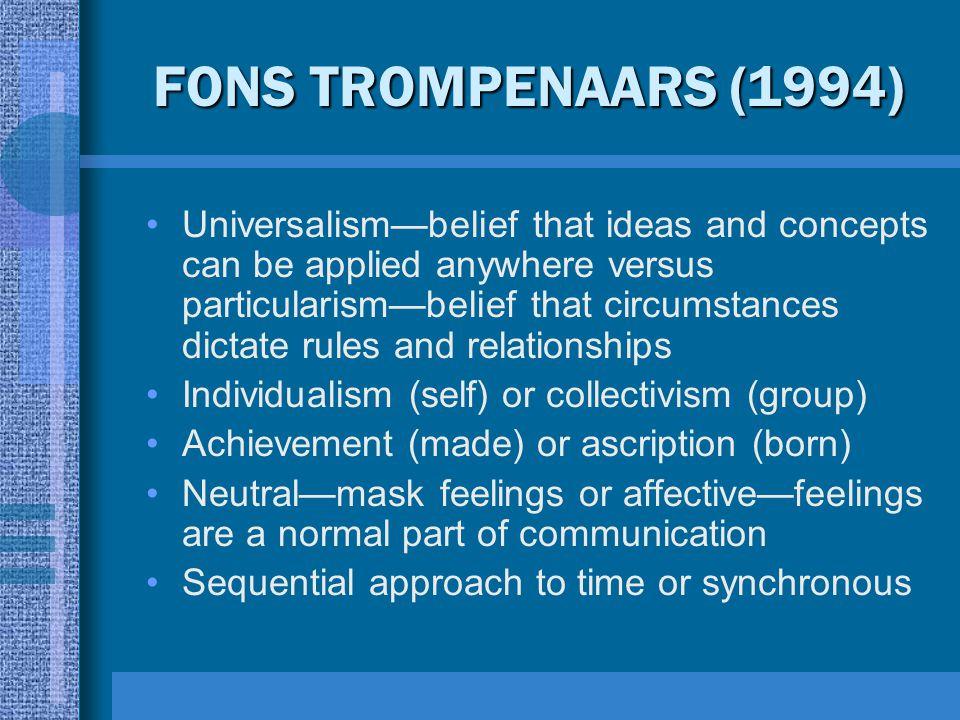 FONS TROMPENAARS (1994)