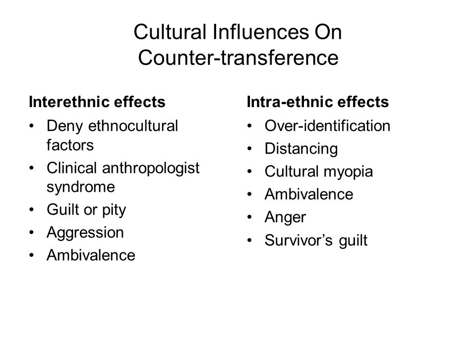 Cultural Influences On Counter-transference