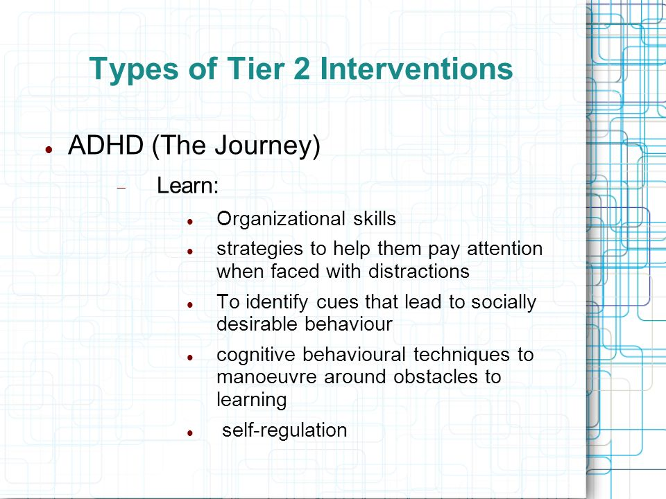 Types of Tier 2 Interventions