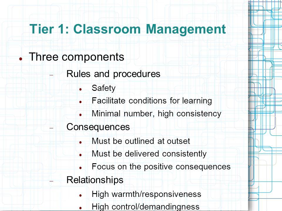 Tier 1: Classroom Management