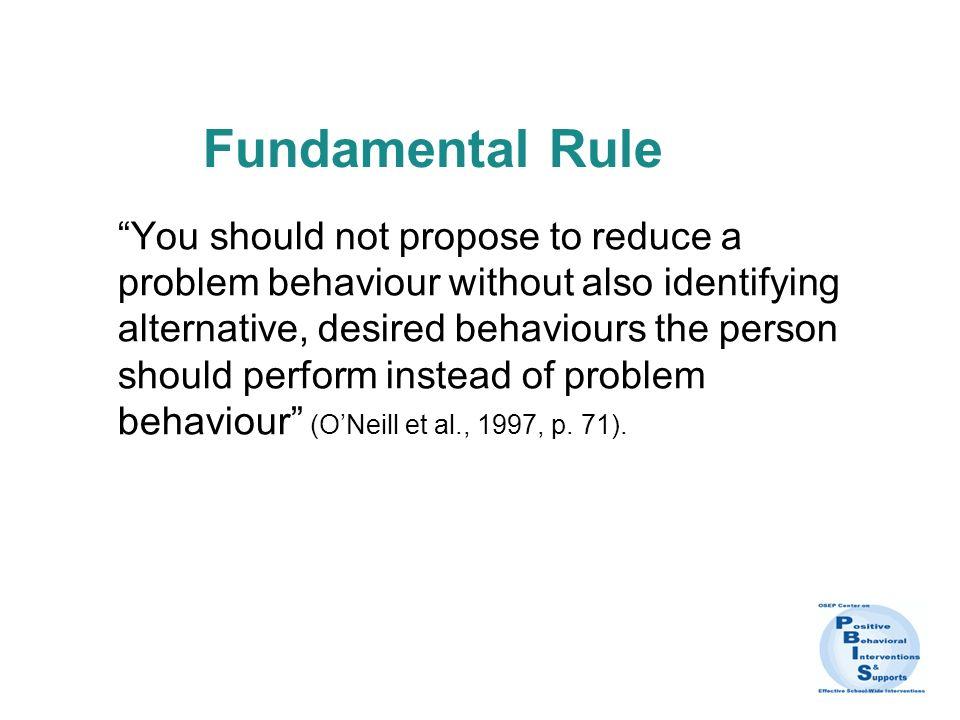 Fundamental Rule