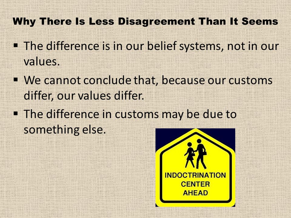 Why There Is Less Disagreement Than It Seems