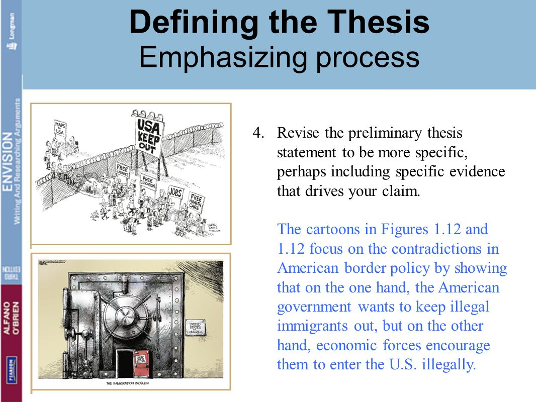 good thesis statement about immigration What is a thesis statement • it is usually a single sentence at the end of your first  paragraph that presents your  what would a good thesis statement look like.