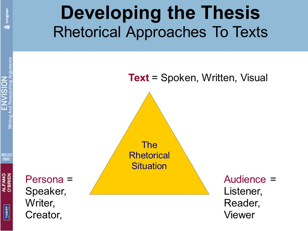 Developing the Thesis Rhetorical Approaches To Texts
