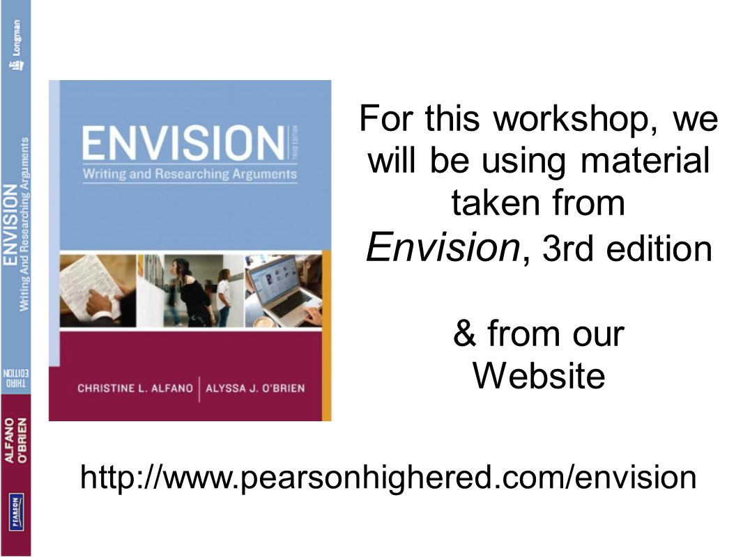 For this workshop, we will be using material taken from