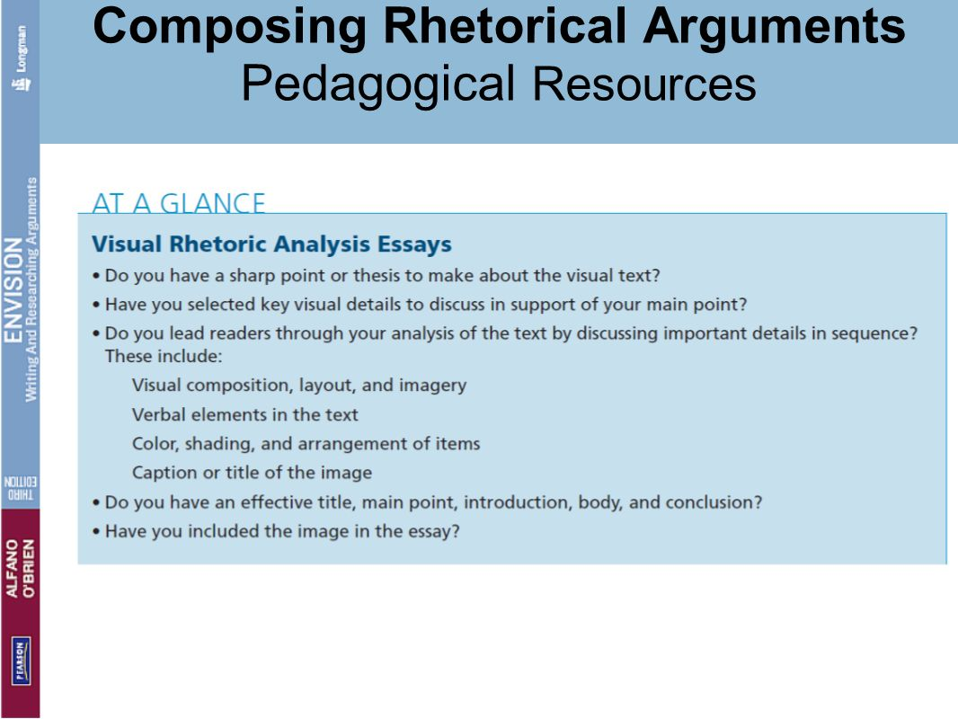 from thesis to rhetorical argument practical strategies ppt composing rhetorical arguments pedagogical resources
