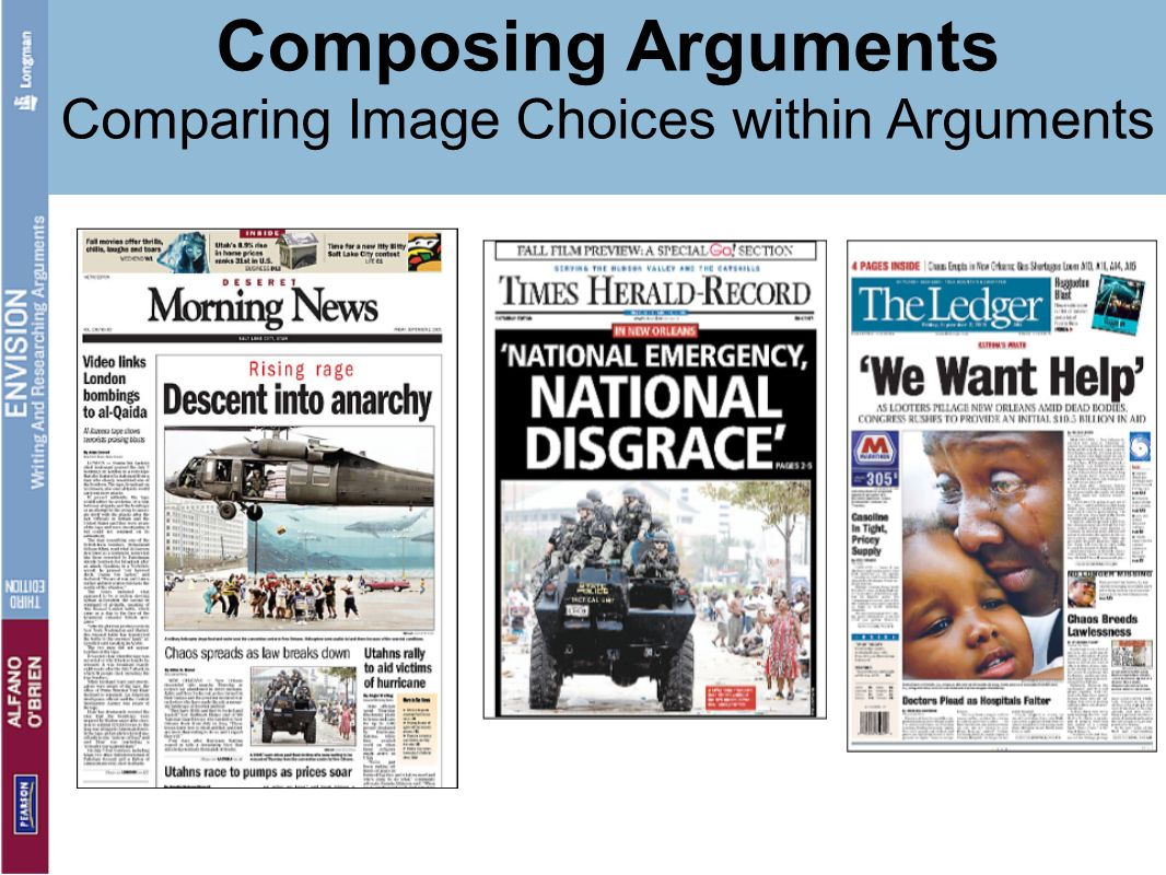 Comparing Image Choices within Arguments