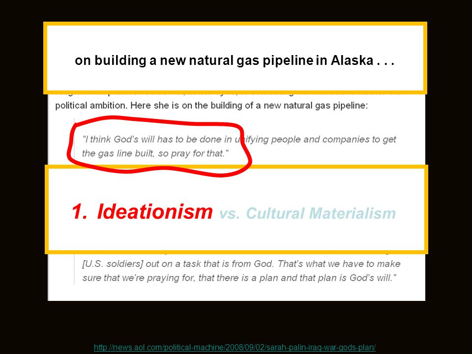 on building a new natural gas pipeline in Alaska . . .