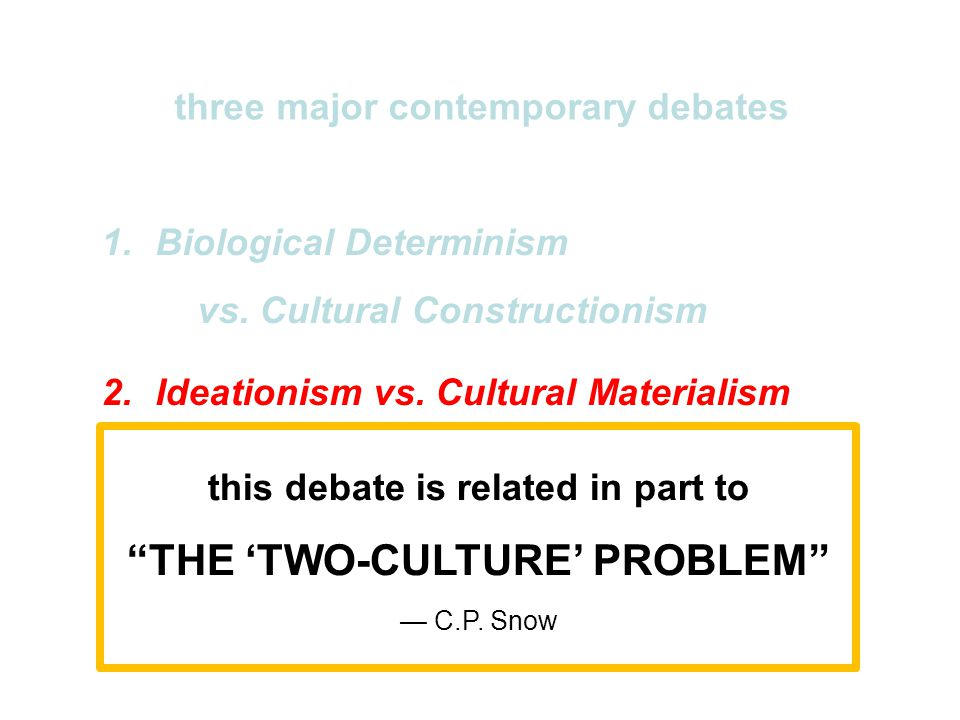 THE 'TWO-CULTURE' PROBLEM