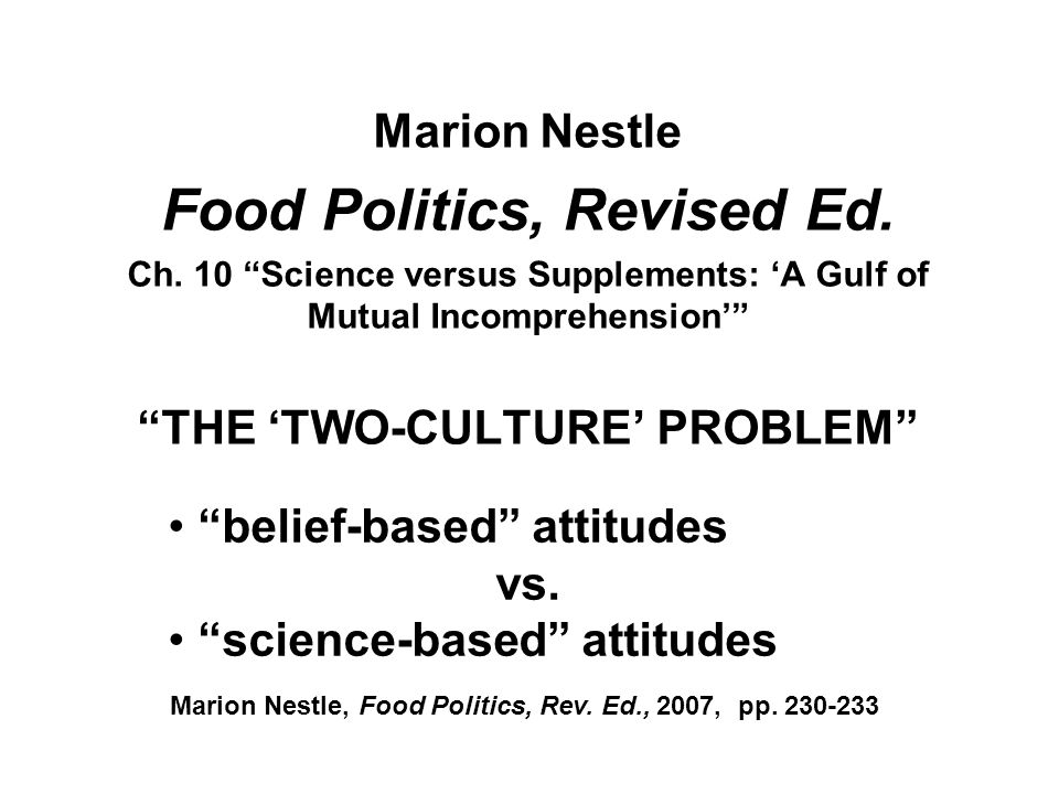 Food Politics, Revised Ed.