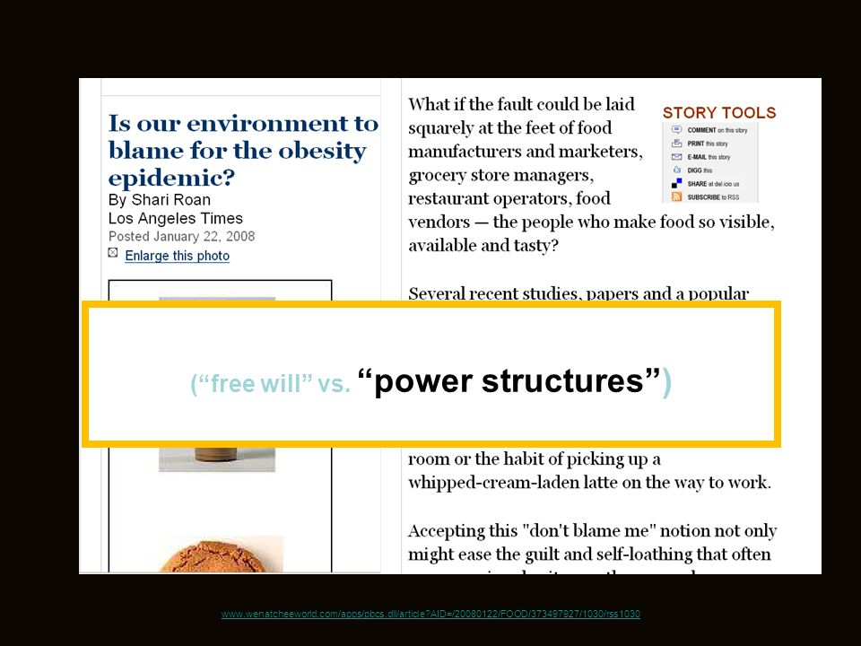 ( free will vs. power structures )