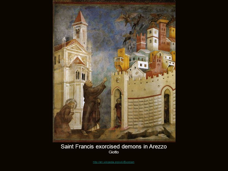 Saint Francis exorcised demons in Arezzo Giotto