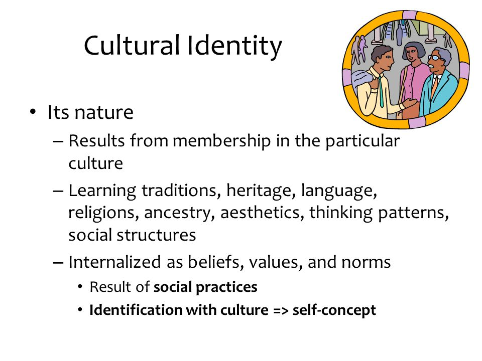 Cultural Identity Its nature