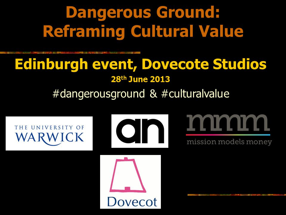 Reframing Cultural Value Edinburgh event, Dovecote Studios