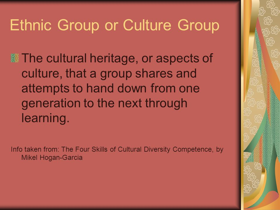 Ethnic Group or Culture Group