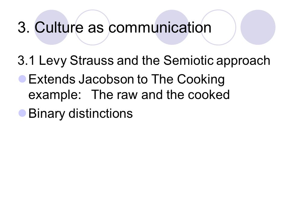 3. Culture as communication