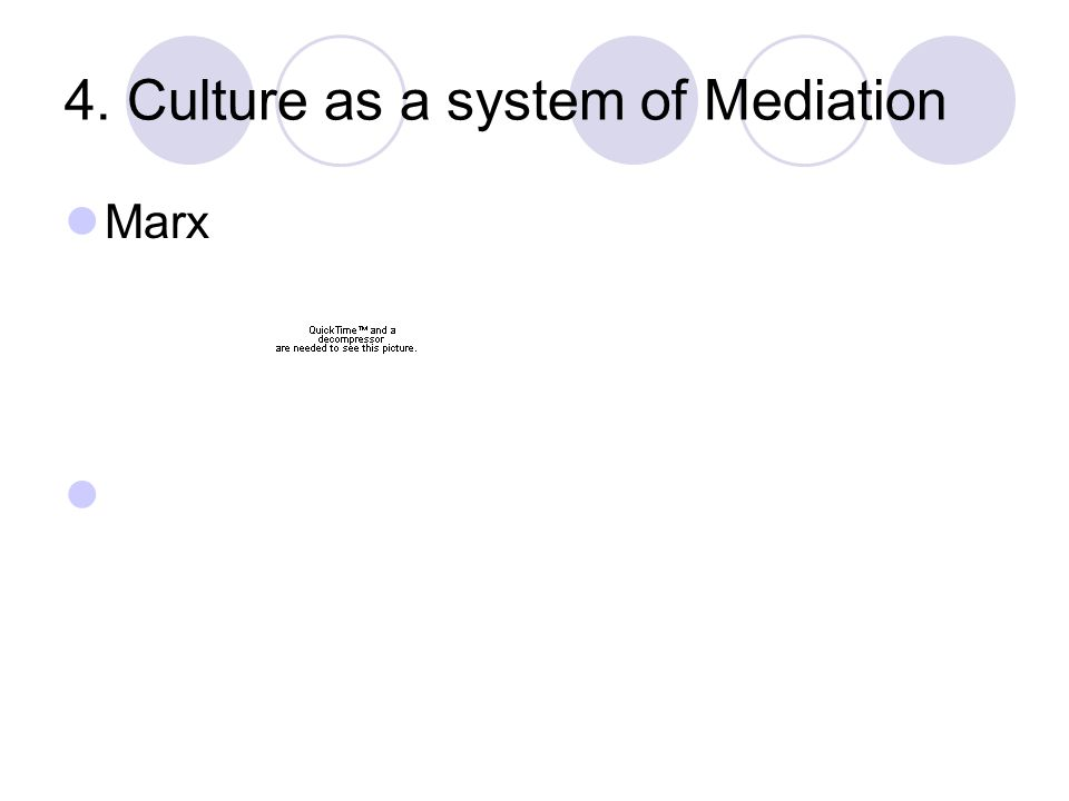 4. Culture as a system of Mediation