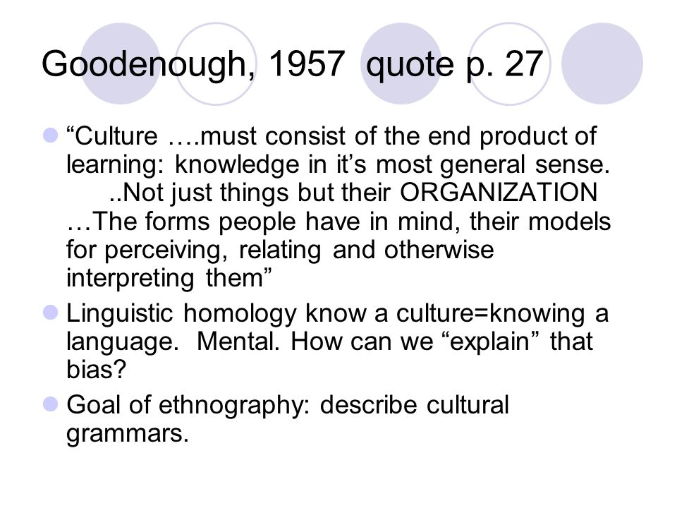 Goodenough, 1957 quote p. 27
