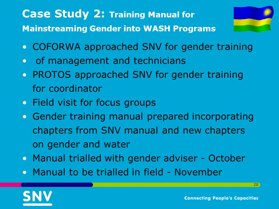 Case Study 2: Training Manual for Mainstreaming Gender into WASH Programs