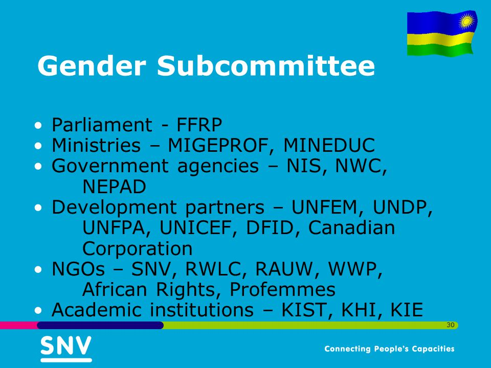 Gender Subcommittee Parliament - FFRP Ministries – MIGEPROF, MINEDUC
