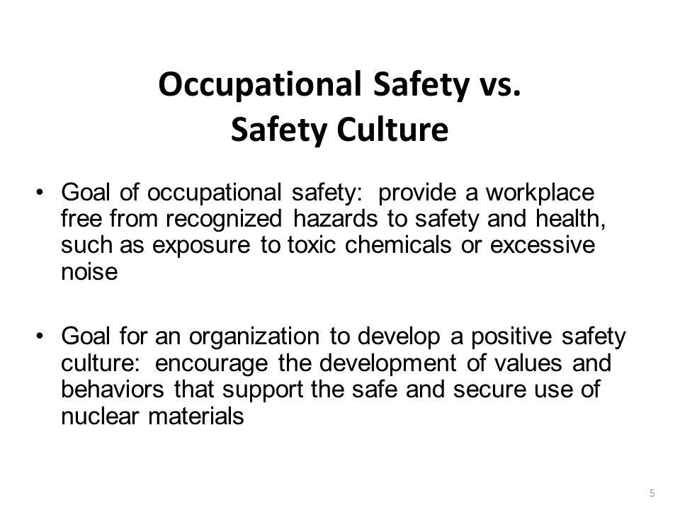 Occupational Safety vs.