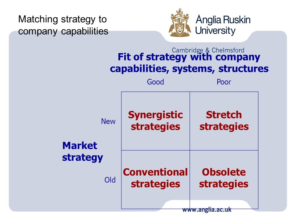 Matching strategy to company capabilities
