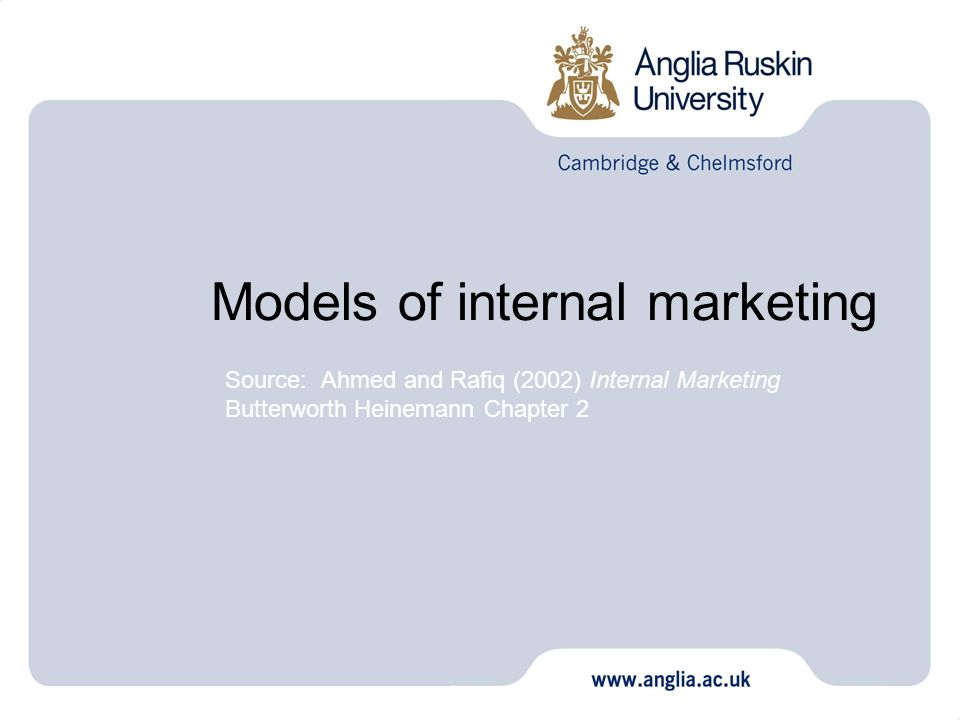 Models of internal marketing
