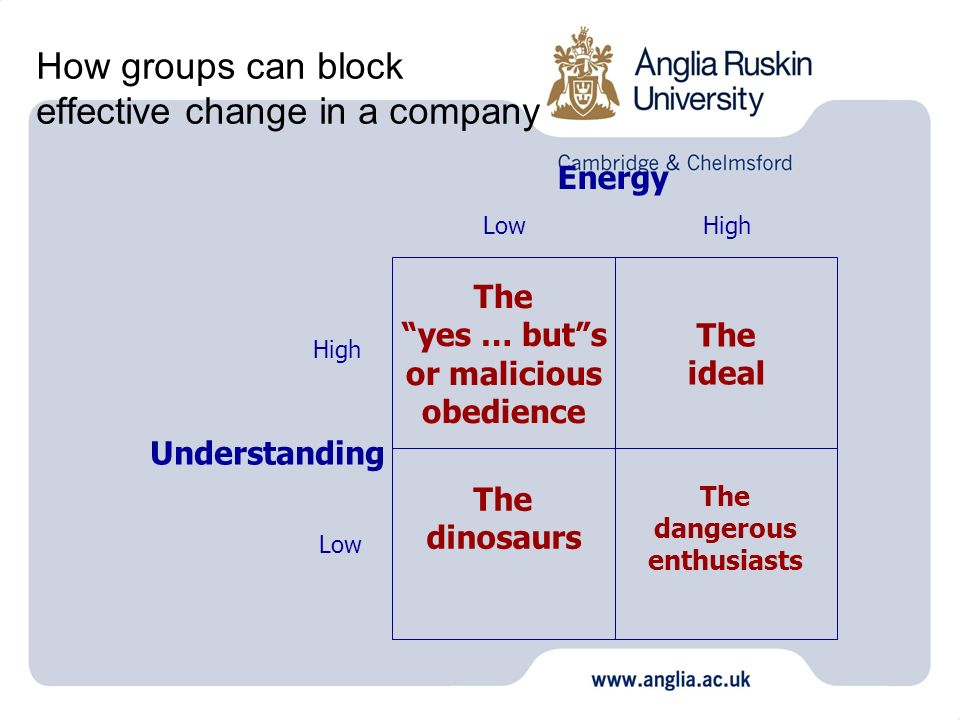 How groups can block effective change in a company