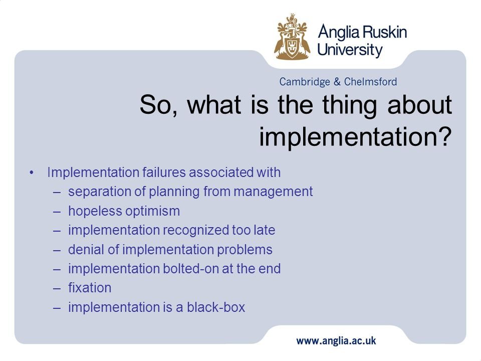 So, what is the thing about implementation