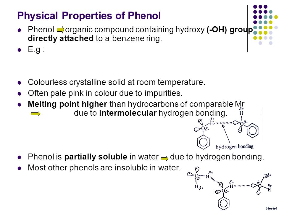 Physical Properties of Phenol