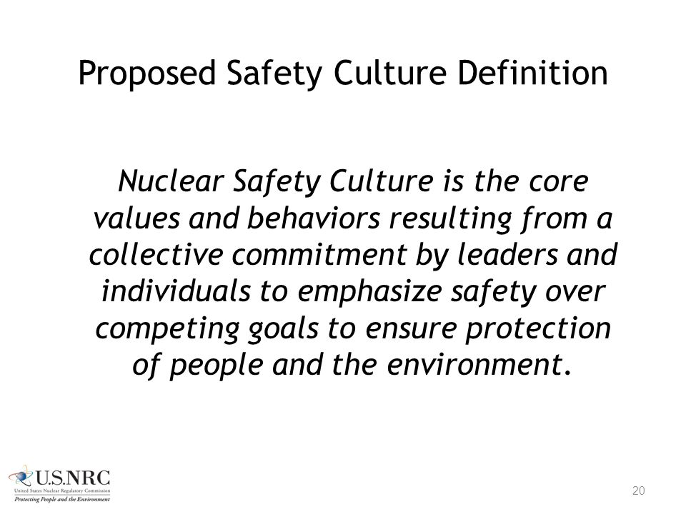 Proposed Safety Culture Definition