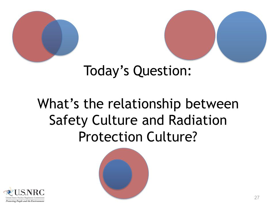 Today's Question: What's the relationship between Safety Culture and Radiation Protection Culture