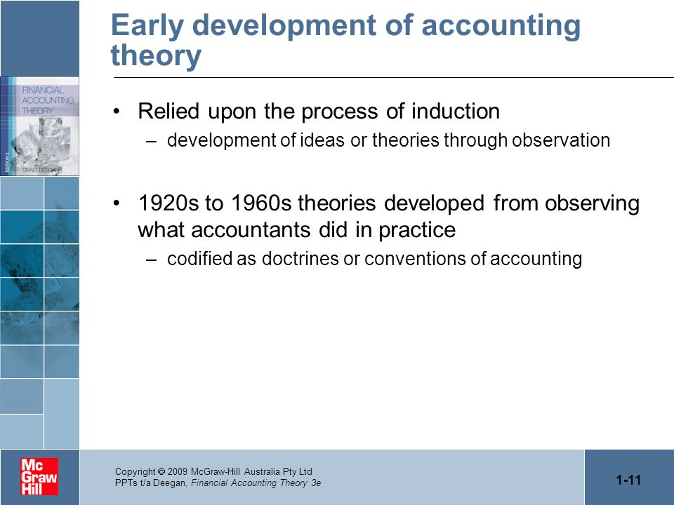 Early development of accounting theory