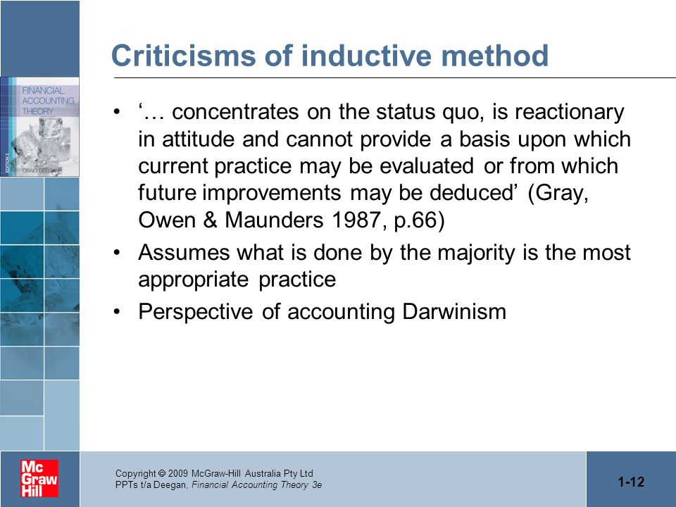 Criticisms of inductive method