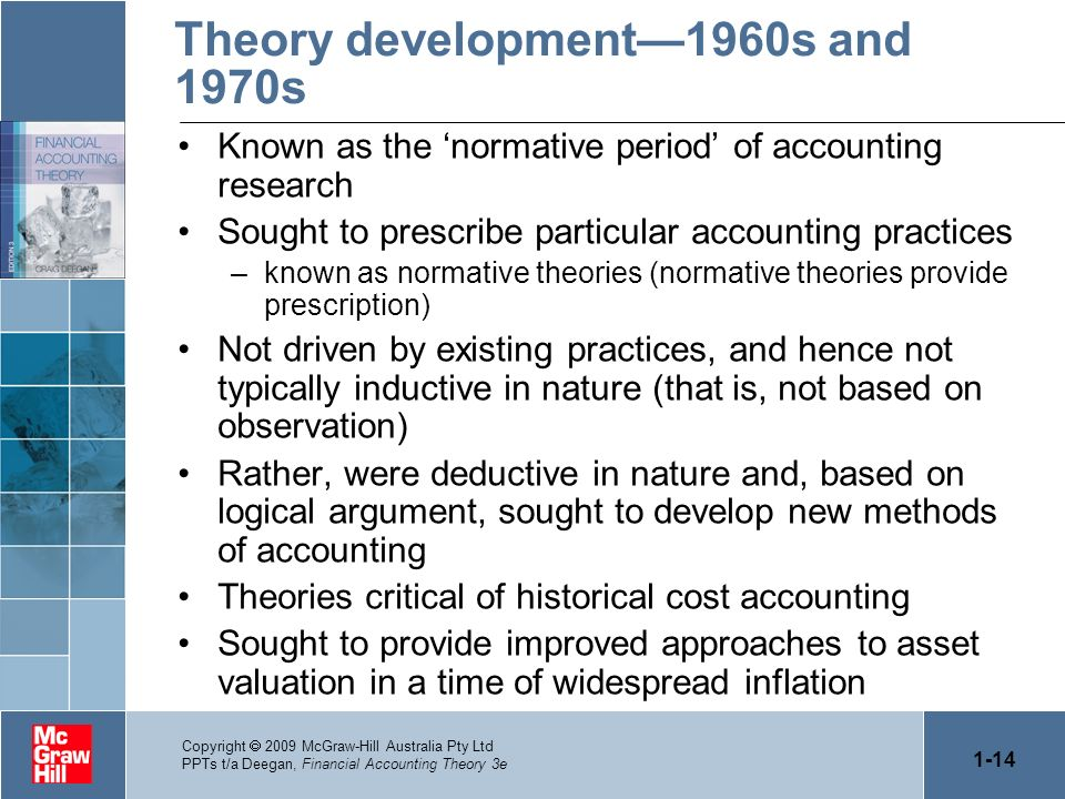 Theory development—1960s and 1970s