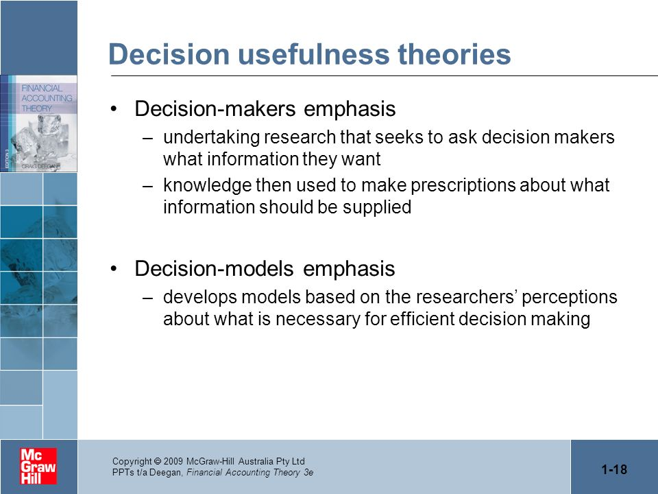 Decision usefulness theories