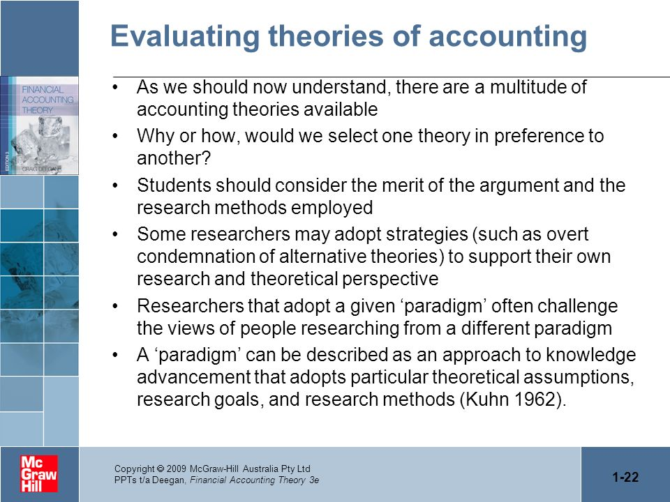 Evaluating theories of accounting