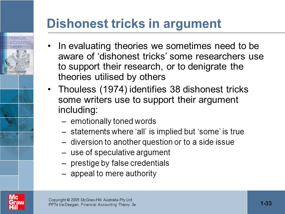 Dishonest tricks in argument